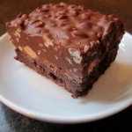 Peanut Butter Crackle Brownie