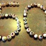 50th Birthday with Baby Photo Chocolates