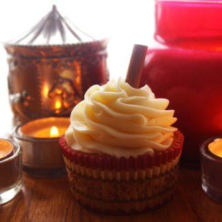 eggnog cupcake, buttercream icing