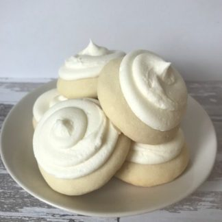 lemon cookie, buttercream icing