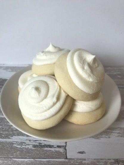 lemon cookie, buttercream icing