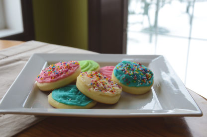 lofthouse cookie, fluffy, buttercream icing, sprinkles