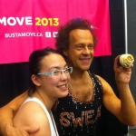 Richard Simmons (appreciating his picture on a cupcake)