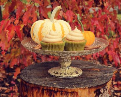 cinnamon pumpkin cupcake, cream cheese icing