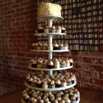 cupcake towers, wedding desserts, cakes