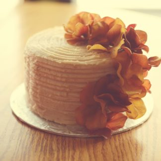 ridge cake, buttercream icing