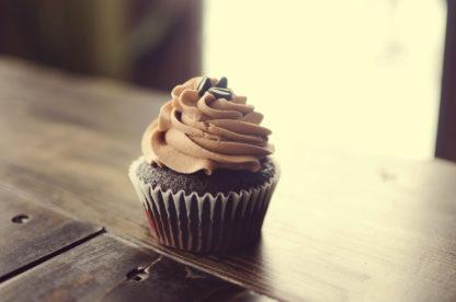 mocha cupcake, chocolate, buttercream icing