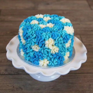 starburst cake, buttercream icing