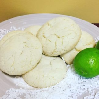 sugar cookie, coconut, lime