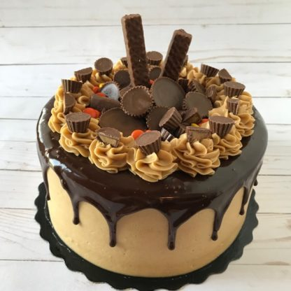 custom cake, peanut butter cake