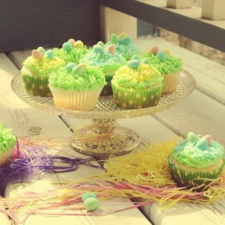 easter cupcakes, coconut, chocolate eggs