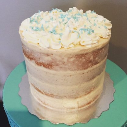 gingerbread cake, cinnamon cream cheese icing, christmas