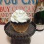 champagne, chocolate, buttercream, cupcake