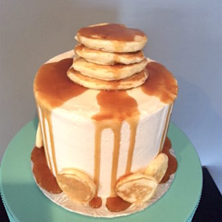 maple cake, pancakes, caramel, canadian maple, buttercream icing