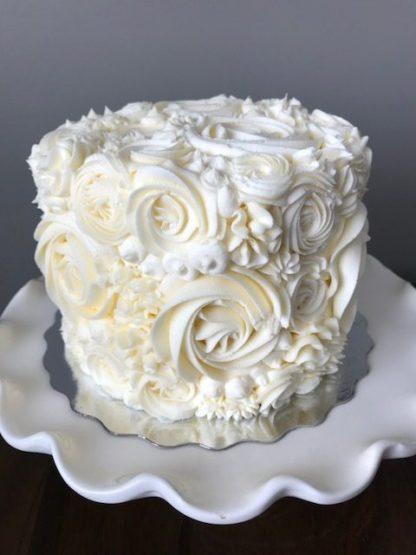 floral cake, buttercream flowers, topper cake, wedding cake