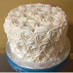 mini rose cake, buttercream icing