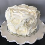 rose cake, buttercream icing