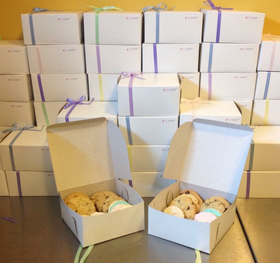 corporate dessert delivery, cookies, corporate gifts, corporate event, dessert edmonton