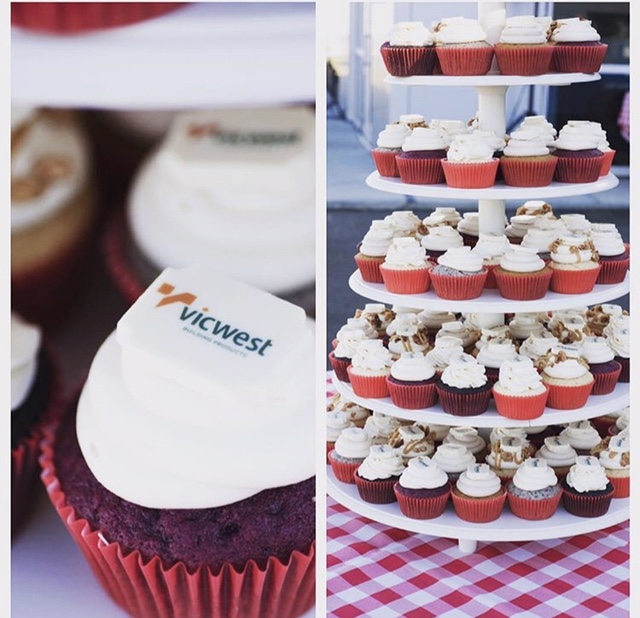 corporate dessert delivery, branded cupcakes, corporate event, dessert edmonton