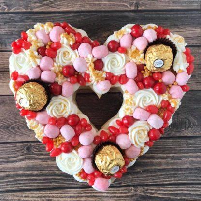 heart sugar cookie cake
