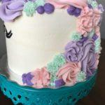 unicorn cake, birthday cake, buttercream icing