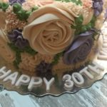 floral cake, birthday cake, buttercream icing