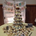 wedding cupcake tower, wedding cake, giant cupcake