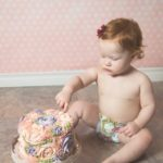 smash cake, floral cake, buttercream icing, party, first birthday