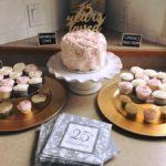birthday cake, rose cake, buttercream icing, cake, cupcakes
