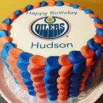 frosting sheet, hockey, birthday cake, buttercream icing
