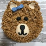 bear cake, buttercream icing, kids cake, birthday party