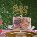 floral cake, buttercream icing, celebration cake