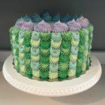 custom cake, mermaid cake, buttercream icing, kids birthday custom cake