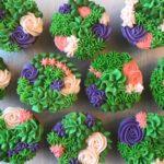 custom cupcakes, moana cupcakes, floral cupcakes, buttercream icing, kids birthday cupcakes