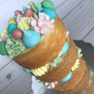 easter cake, buttercream icing, eggs, custom cake