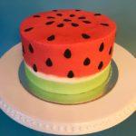 custom cake, watermelon cake, buttercream icing, custom cake