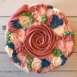 custom cakes, floral cake, buttercream flowers, custom cake
