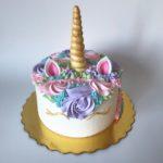 personalized cake, unicorn cake, buttercream icing, buttercream flowers