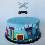 custom cake, train cake, buttercream cake, custom