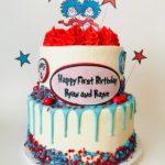 custom cake, dr suess, kids birthday