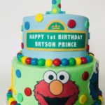 personalized cake, sesame street, buttercream icing