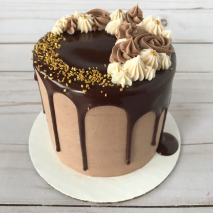 custom cake, chocolate cake, drip cake