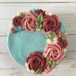 custom cake, floral cake