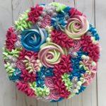 custom cake, floral, buttercream icing