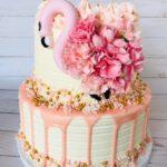 flamingo, custom cake