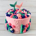 mermaid cake, birthday cake, under the sea