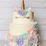 unicorn cake, multi tiered cake, custom cake, buttercream icing