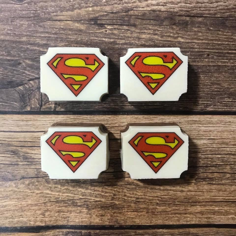 printed chocolates, superman, party favors