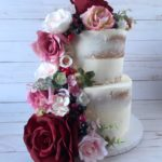 dessert delivery, naked cake, flowers, custom cake, buttercream icing, wedding cake