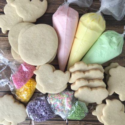 easter, sugar cookie kit